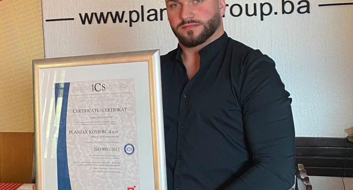 Dodjela certifikata kvalitete ISO 9001 2015